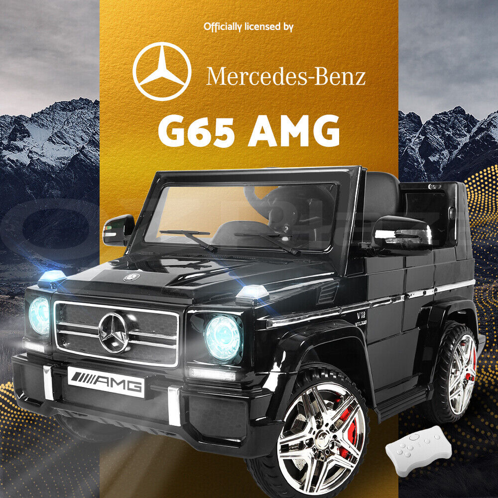 Kids electric ride on car licensed mercedes benz amg g65 for Mercedes benz kids car