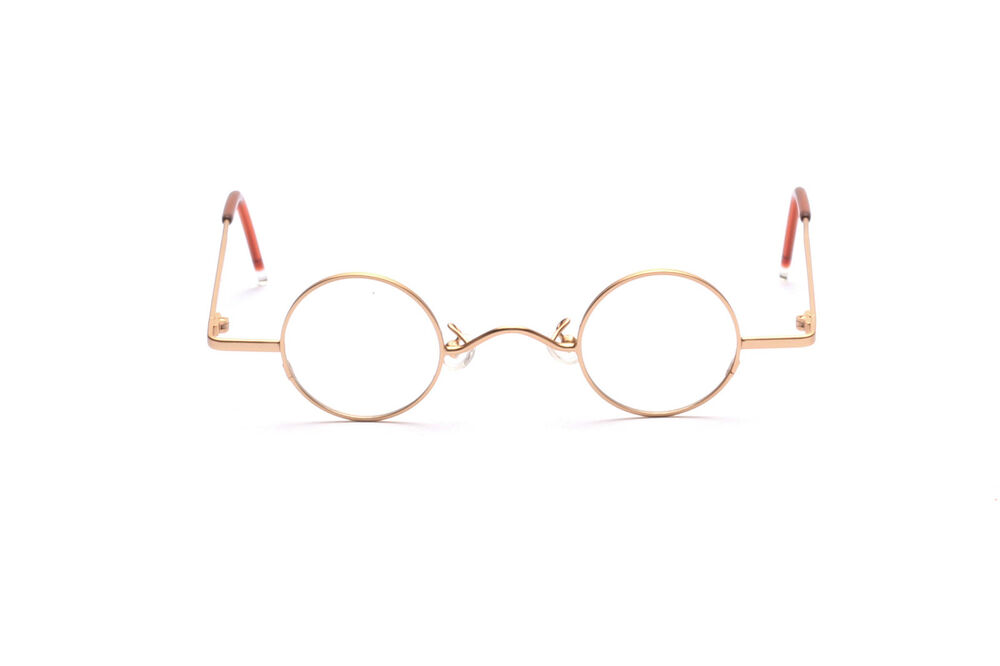 Small Round Eyeglasses For Adults In Frosted Gold Mod