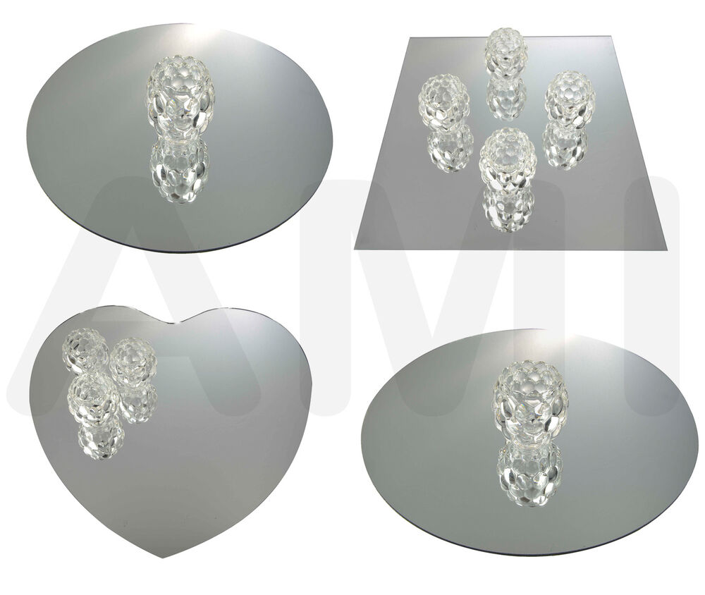Square Round Or Heart Mirrors Wedding Table Decoration