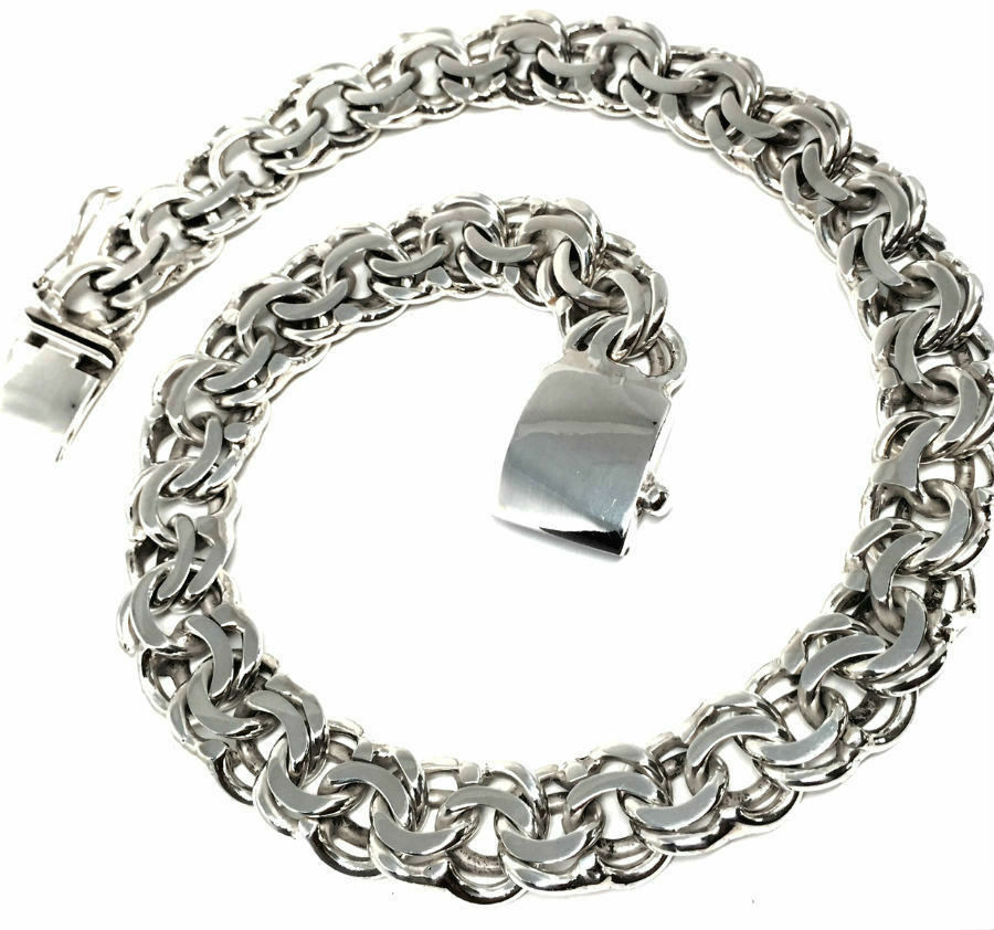 Taxco Mexican 925 Sterling Silver Heavy Men S Unisex Chain