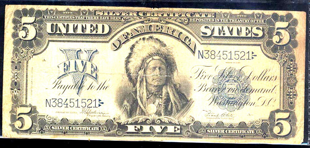 1899 $5 SILVER CERTIFICATE-INDIAN CHIEF-FR#281 | eBay