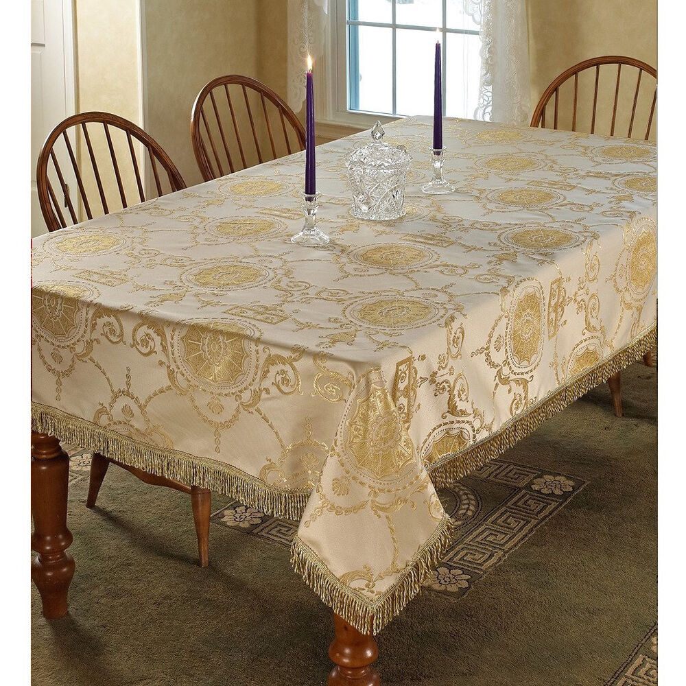 Prestige Damask Design Tablecloth Ebay
