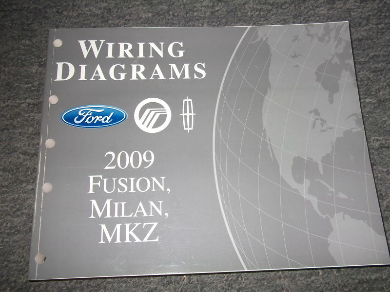 2009 ford fusion mercury milan lincoln mkz electrical wiring diagram manual ewd ebay