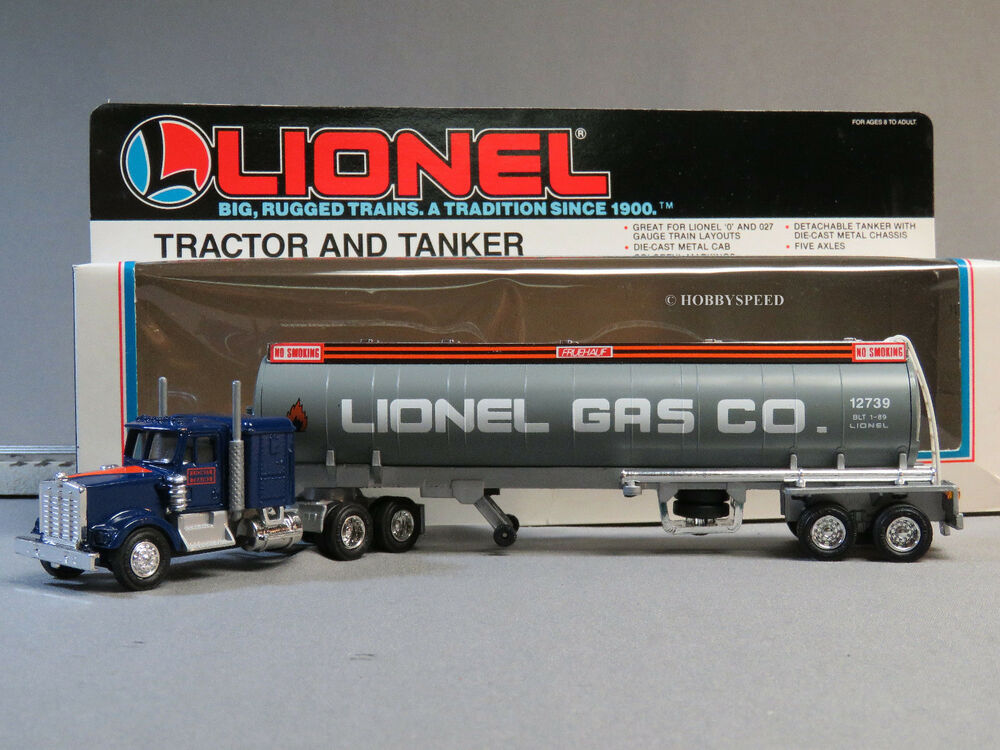Tractor With Tanker : Lionel tractor tanker gas company gauge