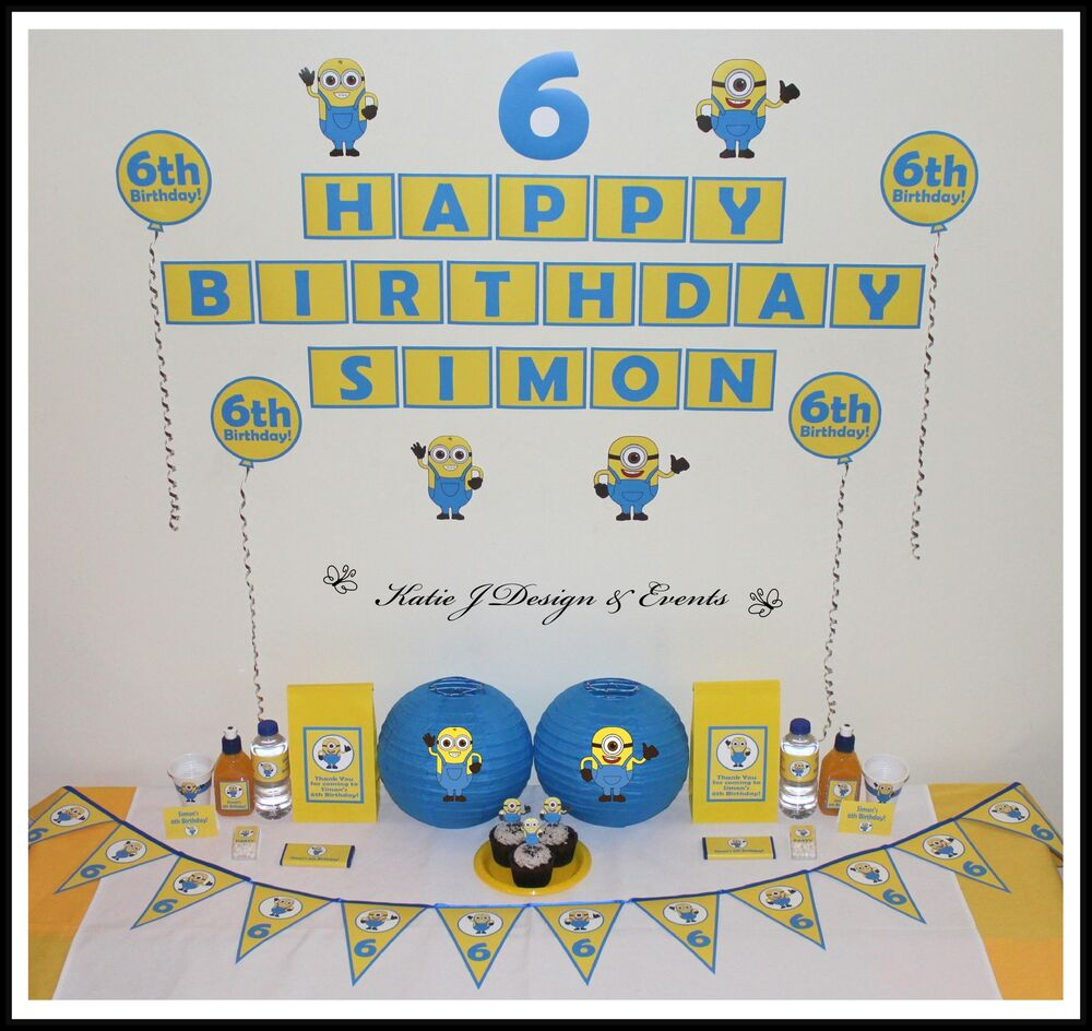 ** MINIONS Despicable Me PERSONALISED Birthday Party