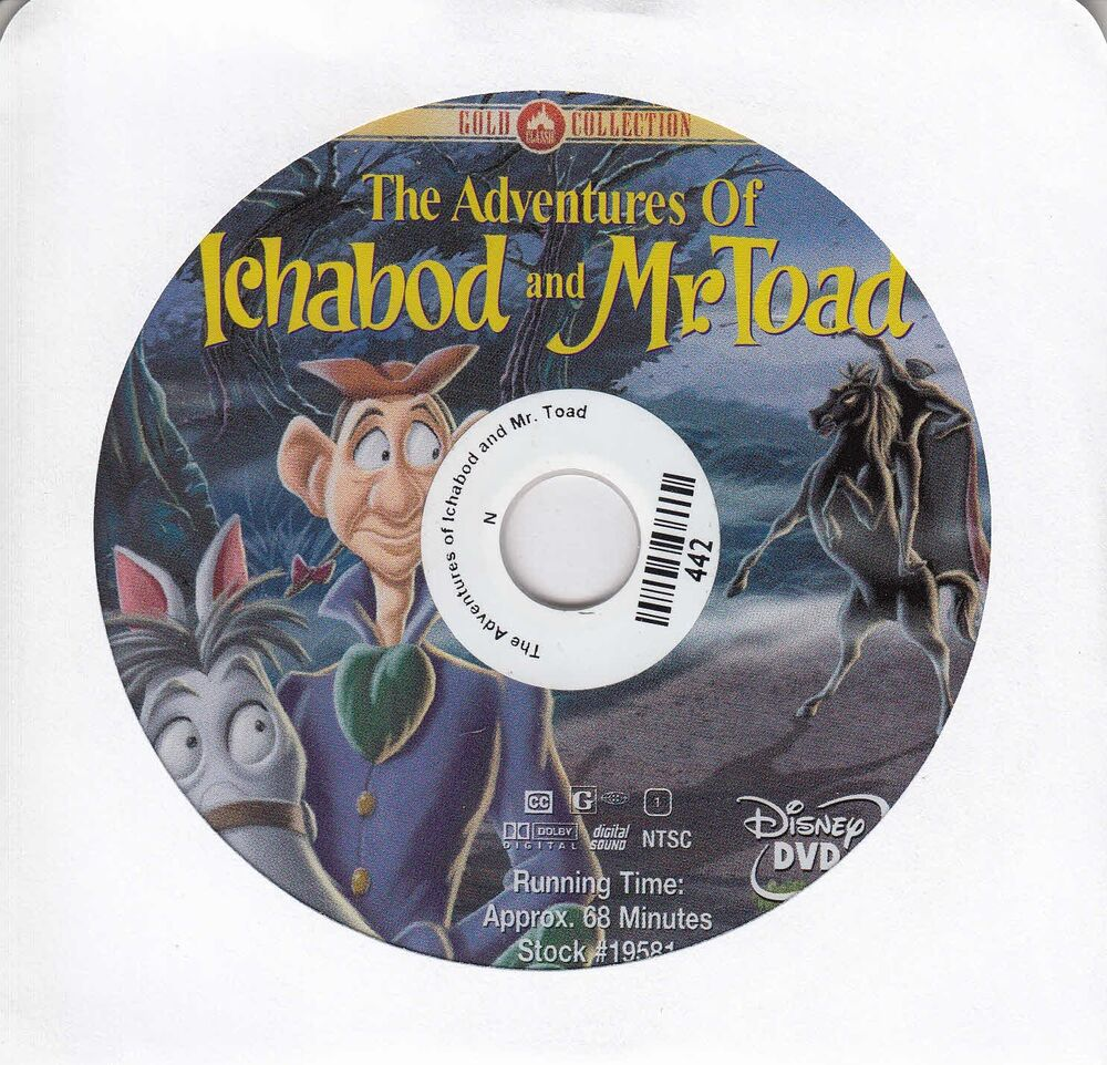 The Adventures Of Ichabod And Mr Toad Dvd 2000 No