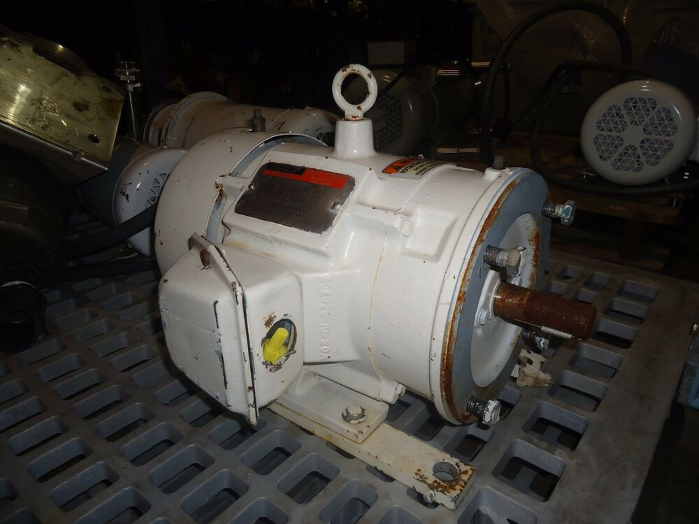 Reliance electric washdown 5hp model p18c1136f ebay for Abc electric motor repair
