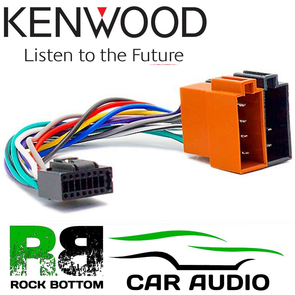 KENWOOD DPX-406DAB Car Radio Stereo 16 Pin Wiring Harness Loom ISO Lead  Adaptor | eBay