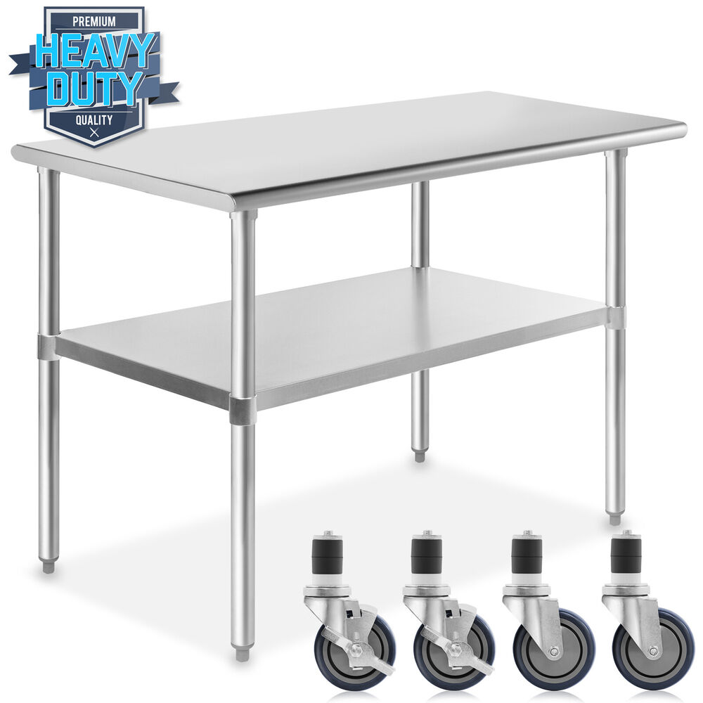 Stainless steel commercial kitchen work food prep table w for Kitchen x cuisine