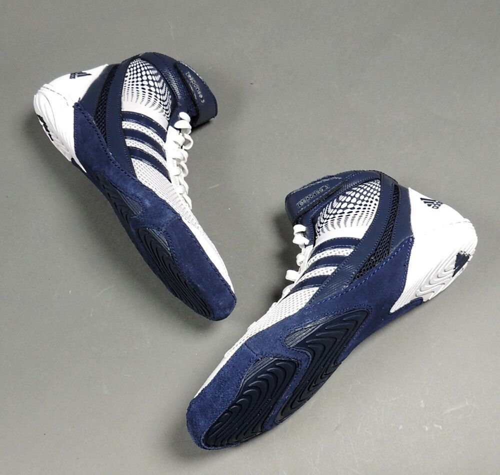 NEW Adidas Response 3.1 Wrestling Shoes M18785 White/Navy Blue ...
