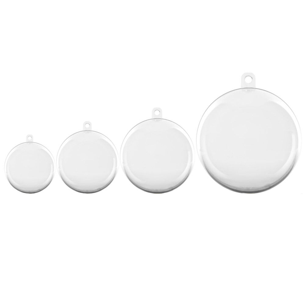 Blue Christmas Ball Ornaments Uk: Clear Baubles Empty Fillable Decoration Ornament Christmas