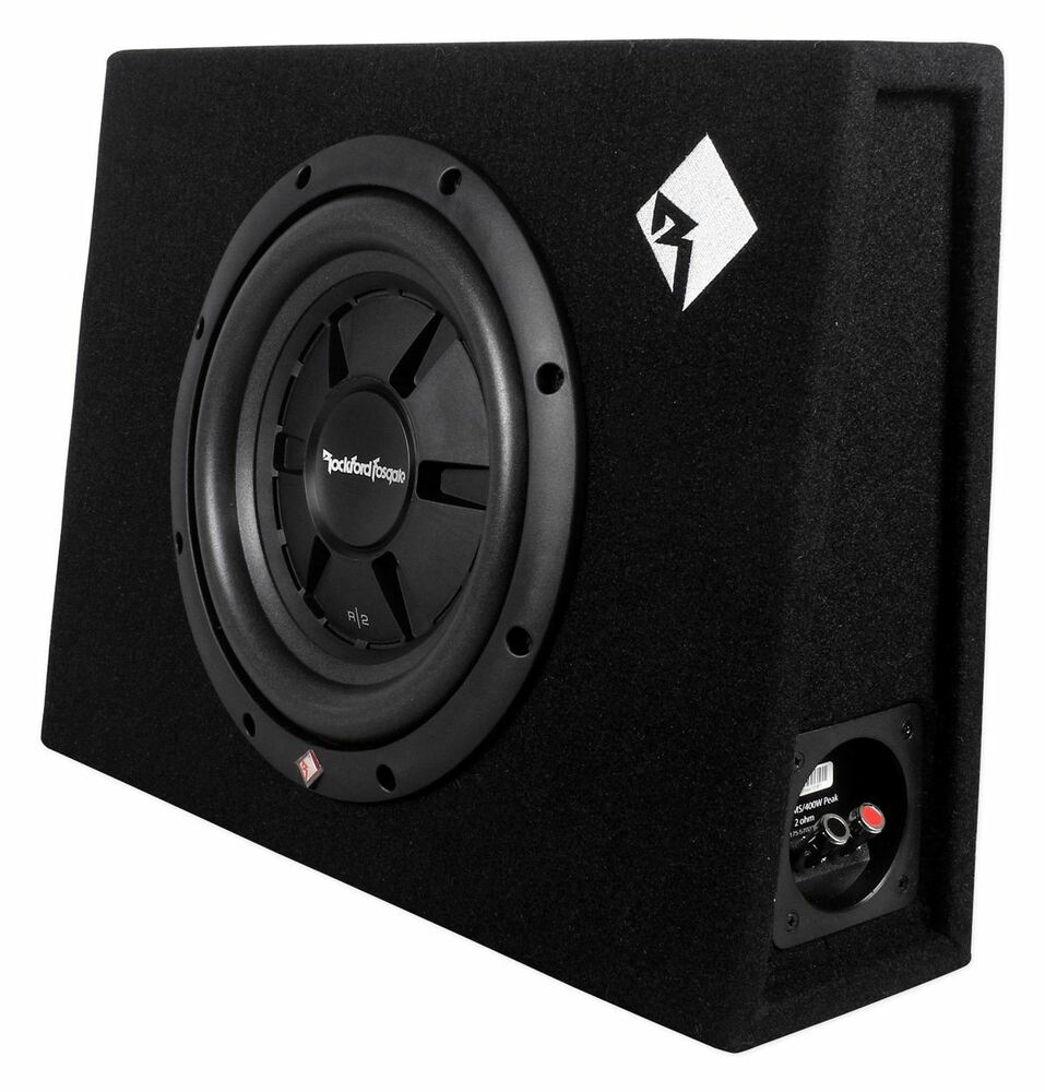 rockford fosgate r2s 1x10 10 400w sealed loaded shallow. Black Bedroom Furniture Sets. Home Design Ideas