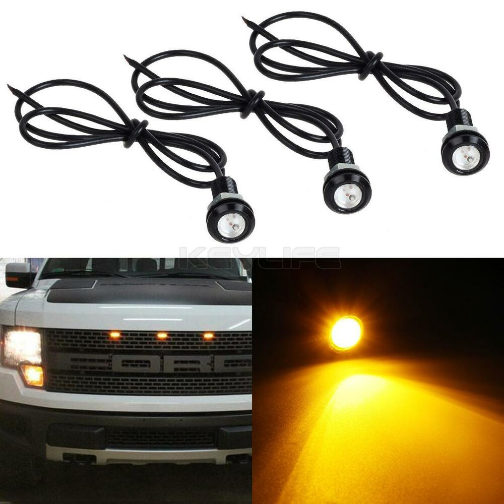 3x New Amber Led Light For 2013 2014 Ford F150 Raptor Style Grille Light Kit Ebay