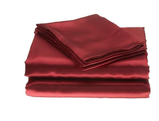 4 Pieces Soft Silk Y Satin Lingerie Bed Sheets Set King