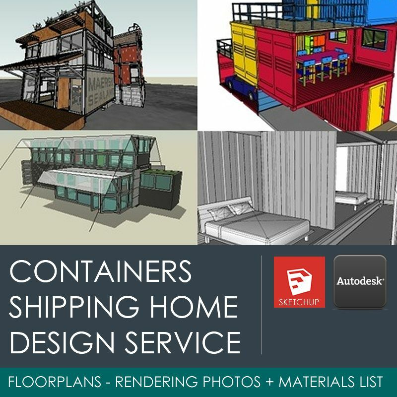 WE DESIGN YOUR SHIPPING CONTAINER HOME / HOUSE / OFFICE