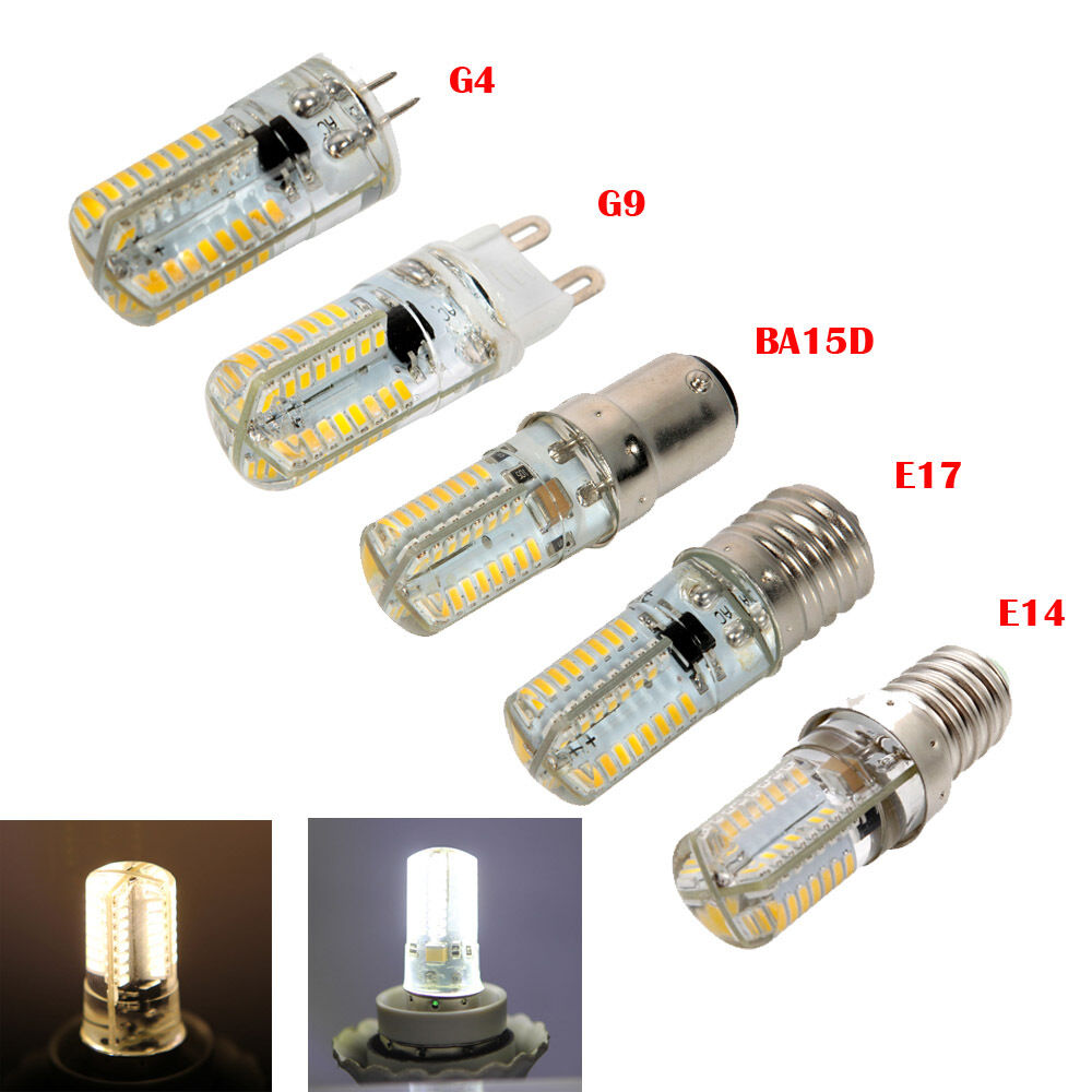 G4 G9 E14 E17 BA15D 64LEDs SMD 3014 LED Corn Bulb Lamp ...