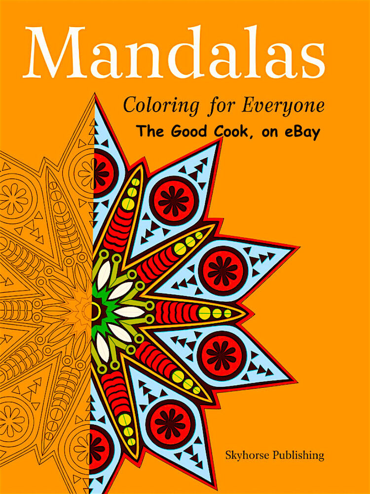 Mandala Adult Coloring Book Anti Stress Art Therapy For