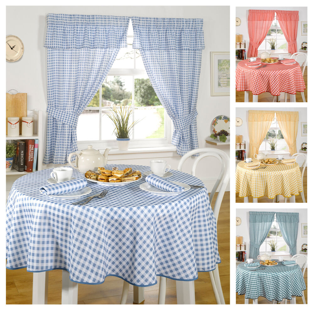 Molly Gingham Check Kitchen Linen In 4 Colours