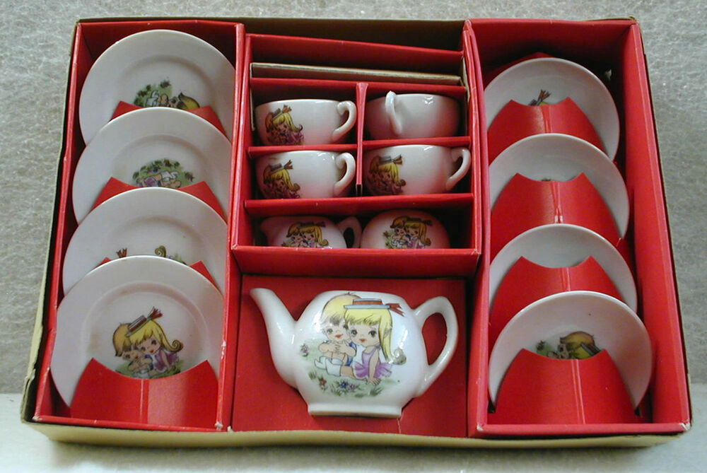 Toy Tea Sets For Boys : Pengo toy china tea set made in japan pieces original