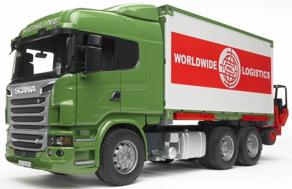 Bruder Scania R Series Kids Play Cargo Container Toy Truck