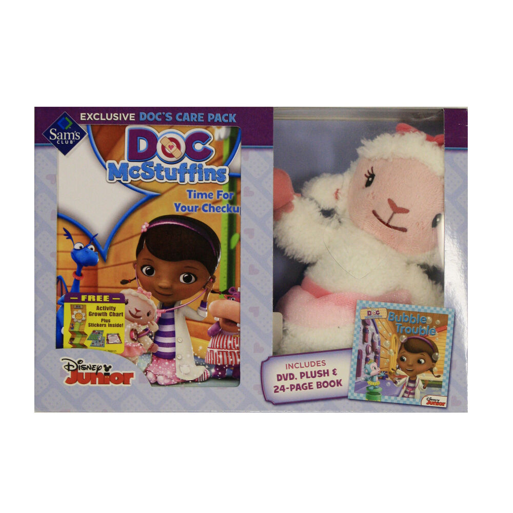 Details About Disney Junior Doc Mcstuffins Docs Care Pack Plush Book Dvd Bundle Kid