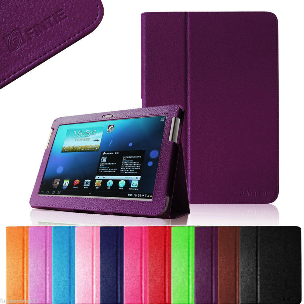 slim folio leather case cover for samsung galaxy tab 2 10. Black Bedroom Furniture Sets. Home Design Ideas
