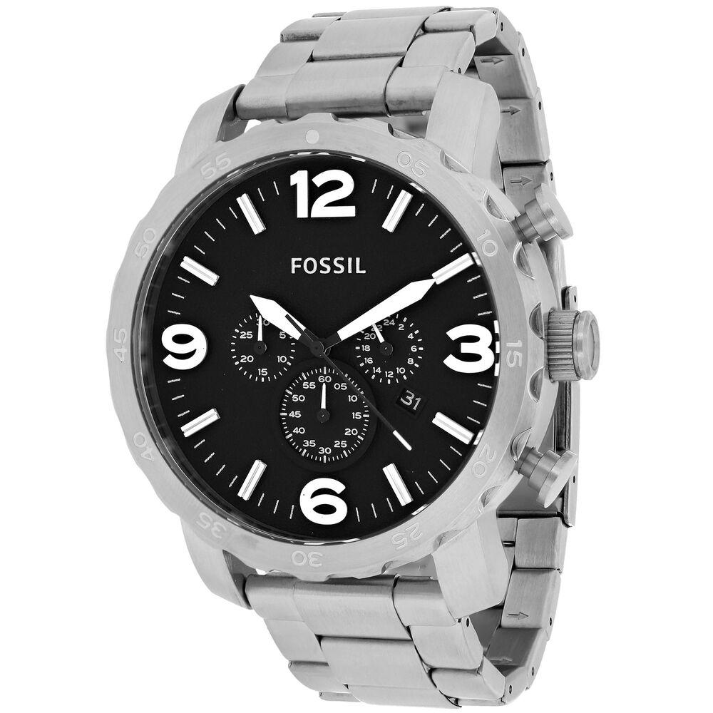 Fossil Men's 'Nate' Stainless Steel Chronograph Watch ...