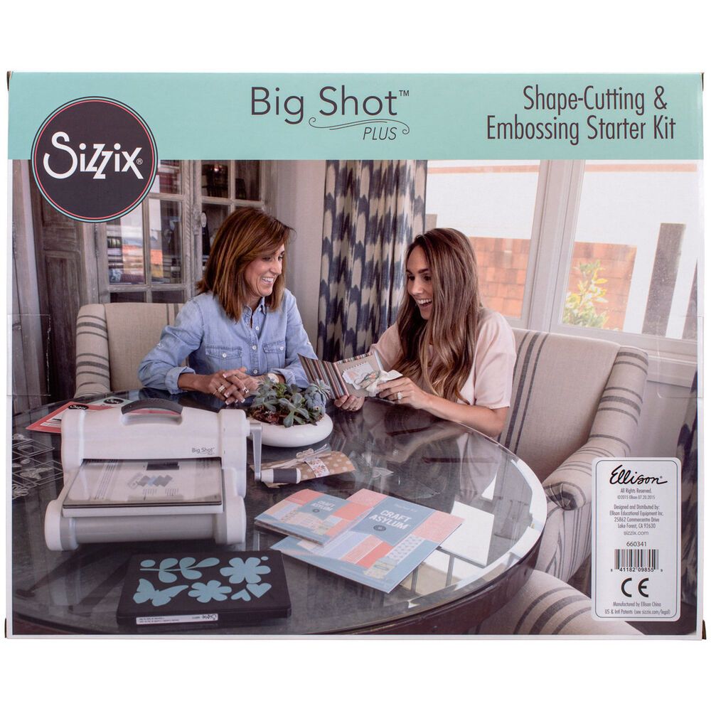 Sizzix Big Shot Plus Die Cutting Machine Starter Kit ...