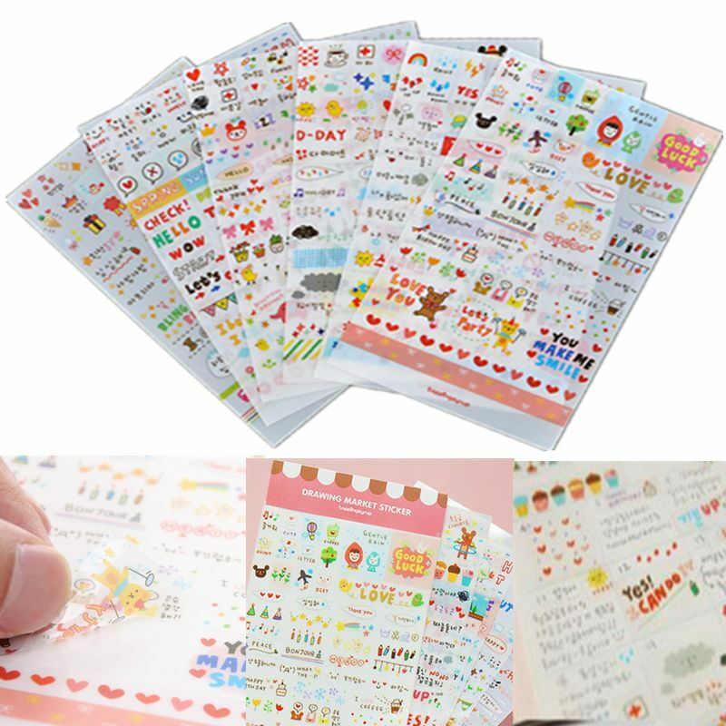 Diy Calendar Diary : Pcs word expression calendar paper sticker scrapbook