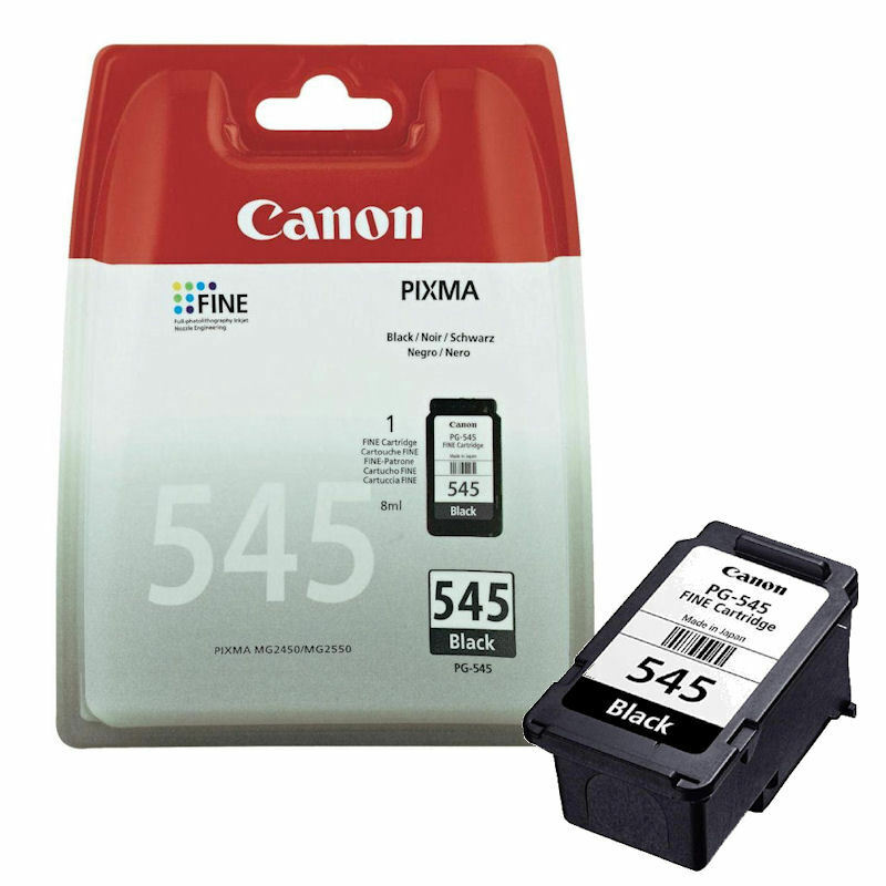genuine canon pg 545 black ink cartridge for pixma mg2950 inkjet printer ebay. Black Bedroom Furniture Sets. Home Design Ideas