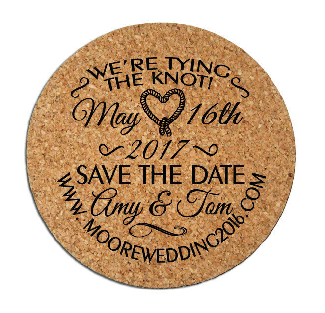 Save the date coasters