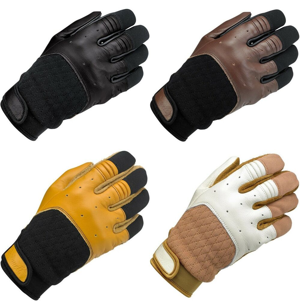 Biltwell Bantam Leather Vintage Motorcycle Gloves All ...