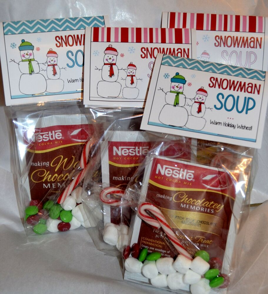12 SNOWMAN SOUP Toppers - Christmas Holiday DIY Favors Party Gifts ...