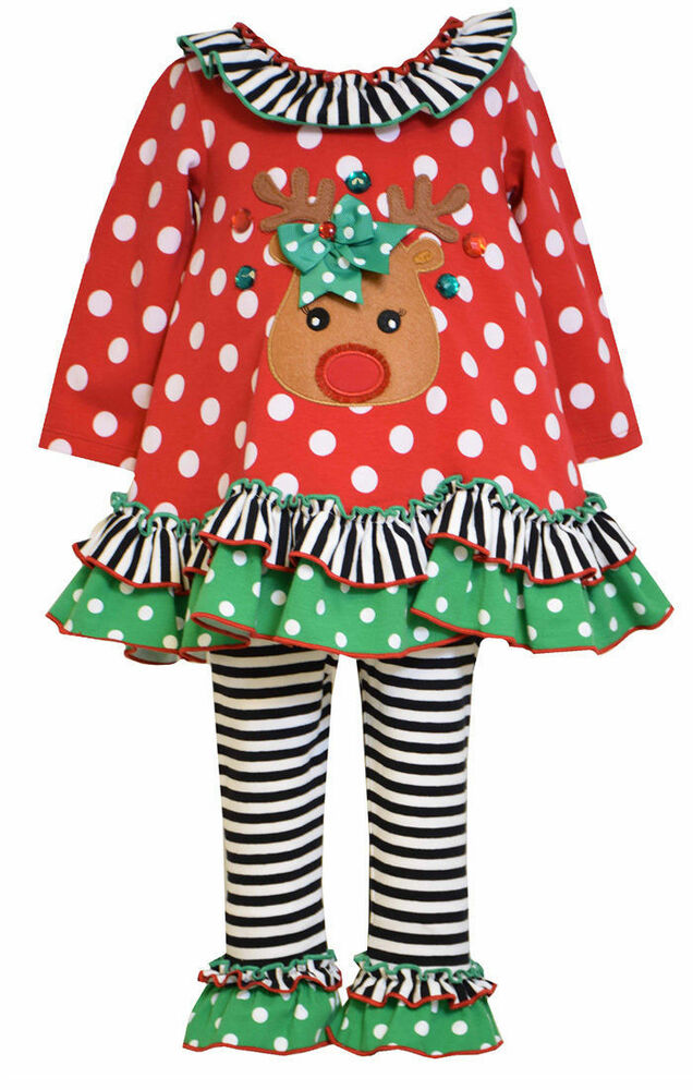 Christmas rudolph reindeer holiday tunic pants outfit 3t new ebay