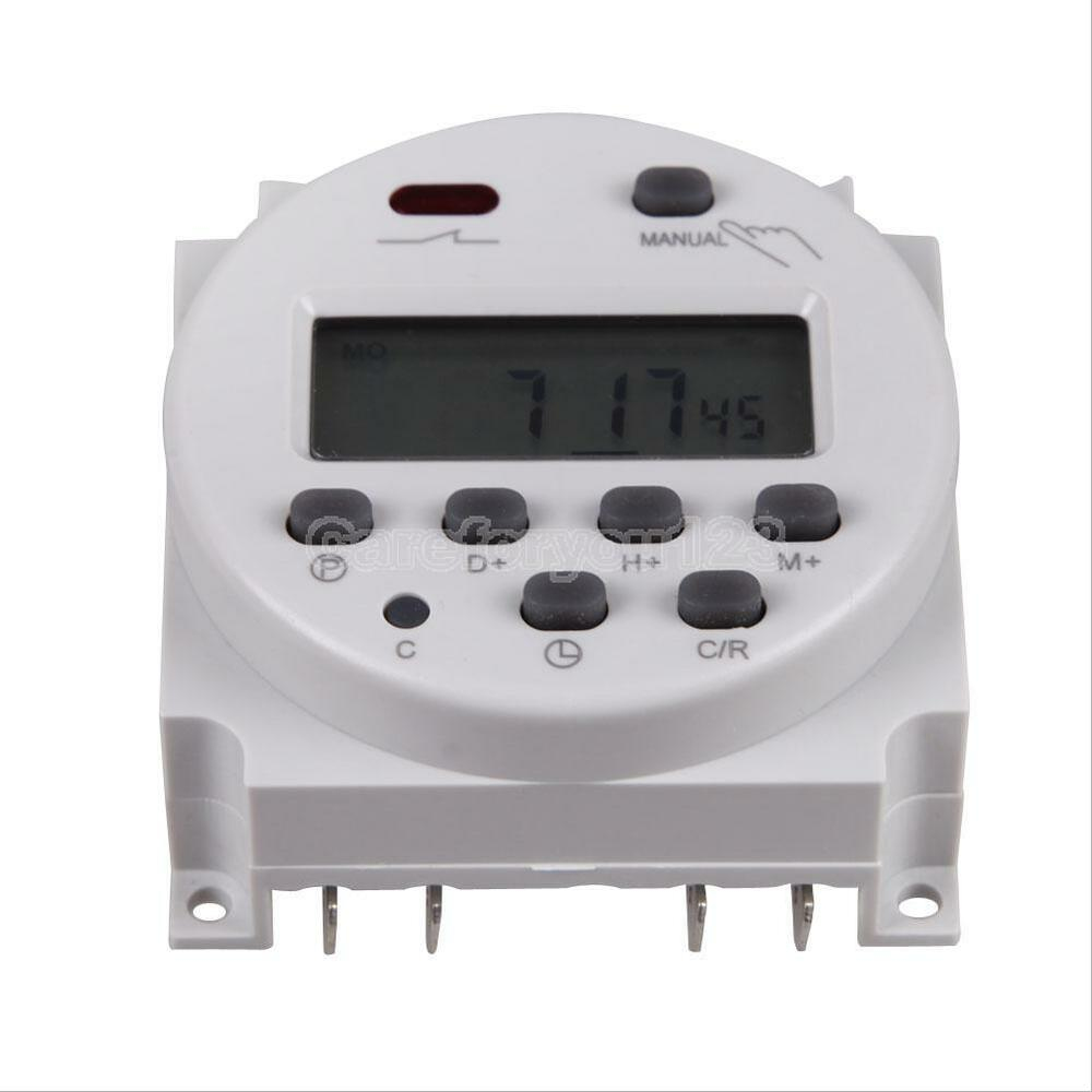 7 day lcd in wall programmable digital timer time relay. Black Bedroom Furniture Sets. Home Design Ideas