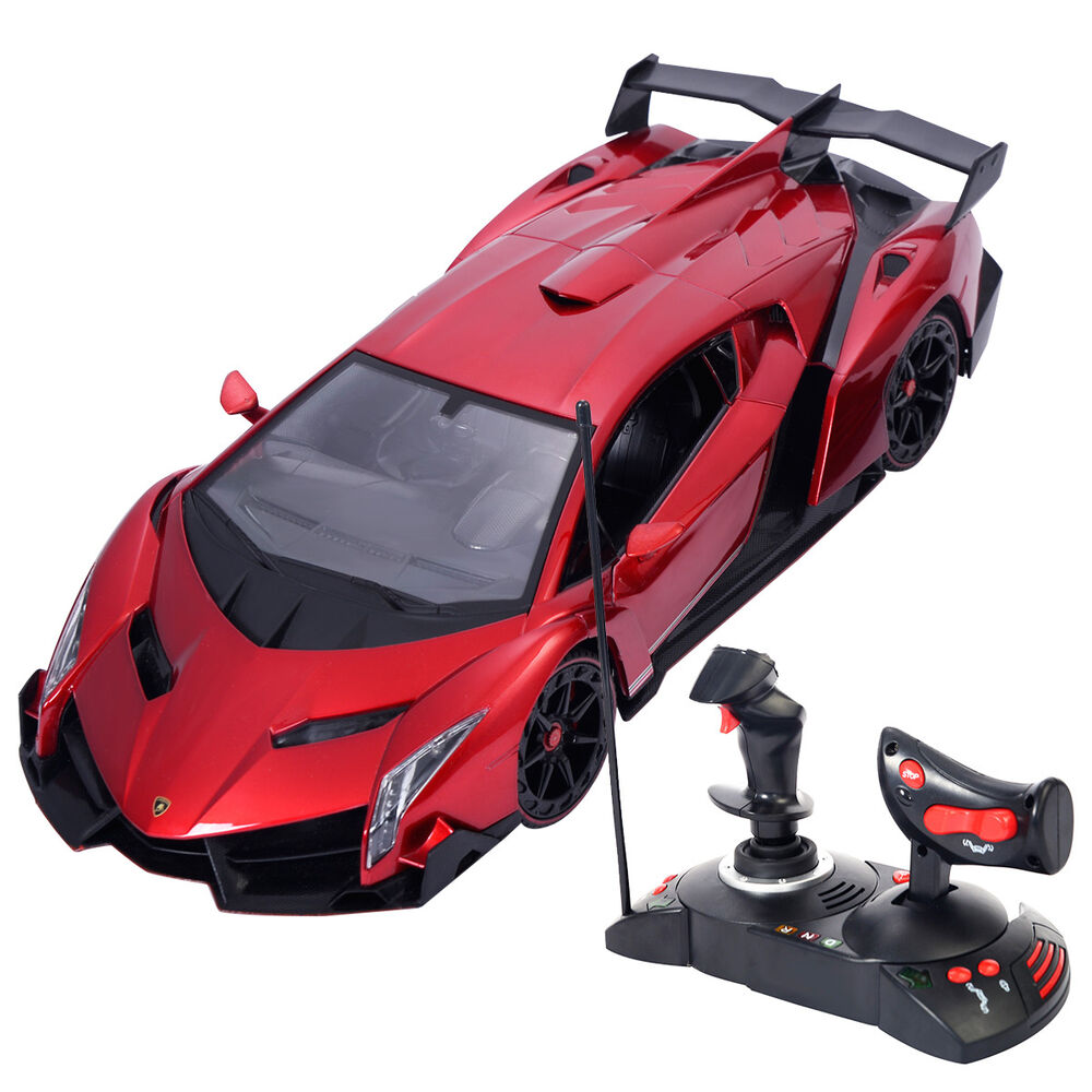 1 14 lamborghini veneno electric sport radio remote control rc car red kids toy ebay. Black Bedroom Furniture Sets. Home Design Ideas