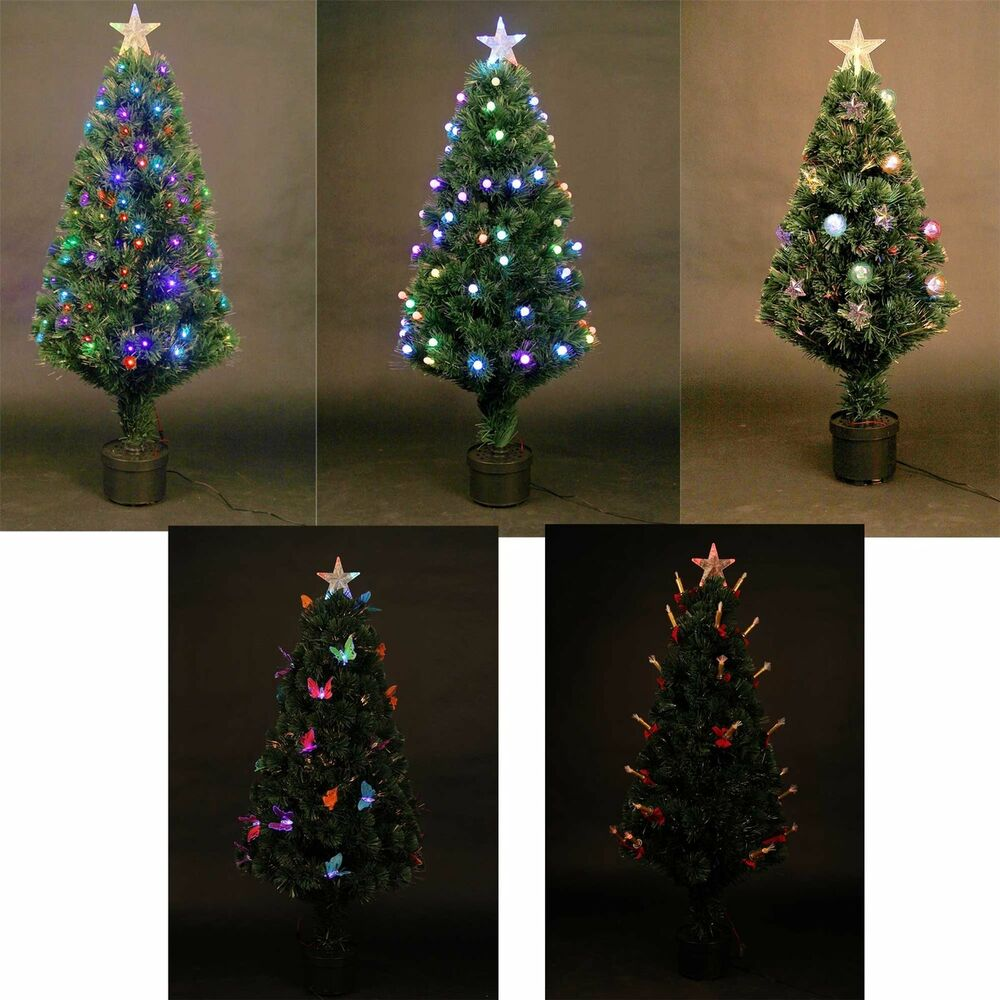 led christmas tree pre lit tree led fibre optic prelit light up 10593