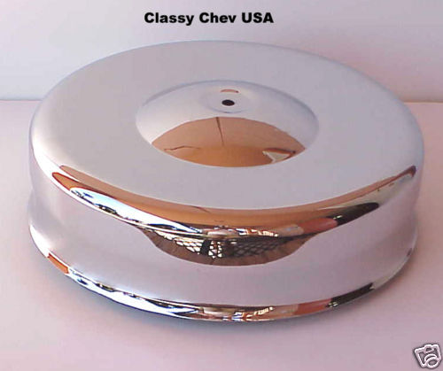 Four Bbl Carb Air Cleaners : Mushroom chrome air cleaner new for barrel carb hot rod