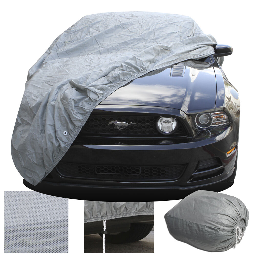 full car cover indoor outdoor dust scratch protection. Black Bedroom Furniture Sets. Home Design Ideas