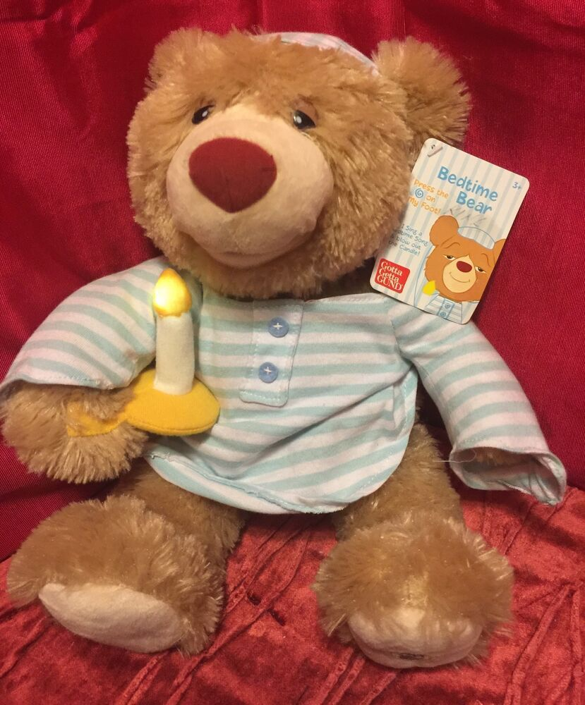 "GUND 2012 Animated BEDTIME BEAR 16"" Plush Singing Stuffed ..."