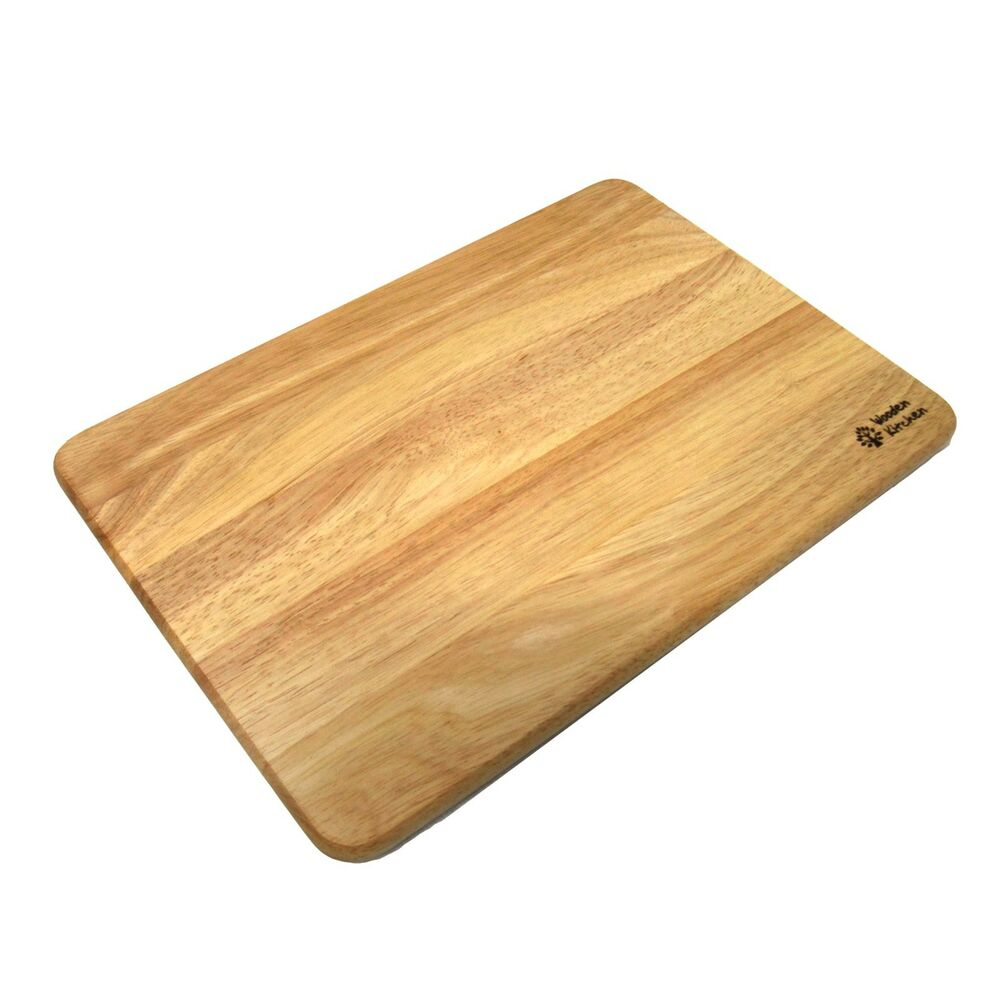 New Natural Rubber Wood Cutting Board Chopping Board Food Prep Kitchen Tools Ebay