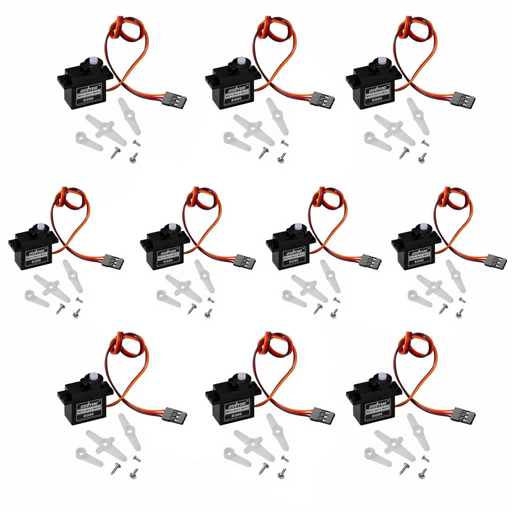10 x micro sg90 servo motor 9g for rc robot helicopter for Micro servo motor arduino