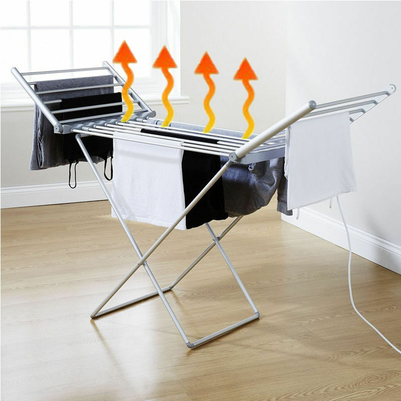 Electric Clothes Airer Dryer Indoor Horse Rack Laundry