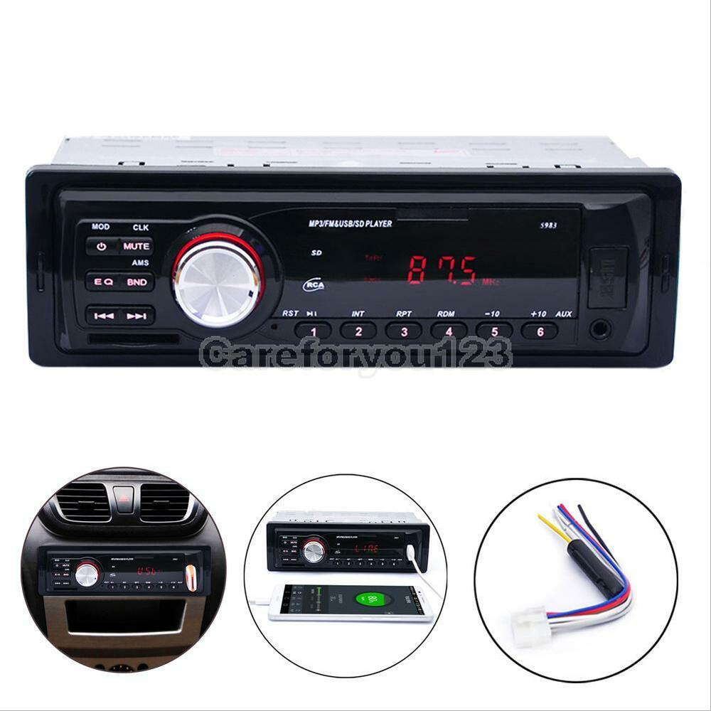 car audio stereo in dash am fm aux input receiver sd usb. Black Bedroom Furniture Sets. Home Design Ideas