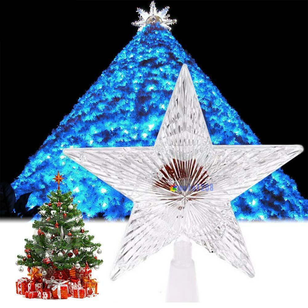 Colorful Changing Xmas Christmas Tree Topper Star Light