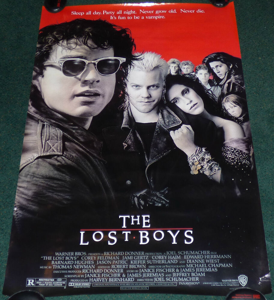 THE LOST BOYS 1987 ORIGINAL ROLLED 1 SHEET MOVIE POSTER