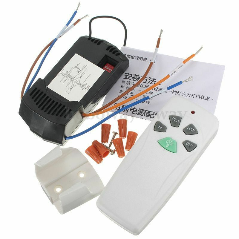 House Ceiling Fan & Light Remote Control Kit Universal