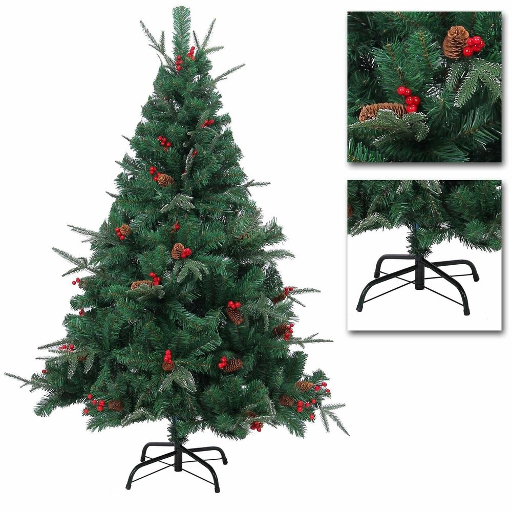 5ft 6ft 7ft deluxe pre decorated artificial christmas tree. Black Bedroom Furniture Sets. Home Design Ideas