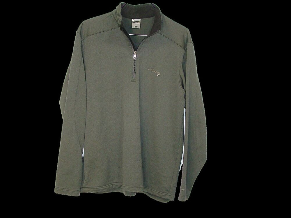 Columbia GRT Mens Grey Lined Long Sleeve 1/4 Zip Pullover ...