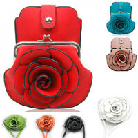 Designer Ladies Women's Fashion Quality Flower Small Cross Body Purse Bags 0060